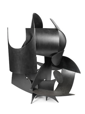 Edoardo Villa (South African, 1920-2011) 'Throne' 95cm (37 3/8in) high.