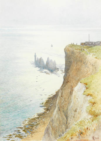 Charles Robertson (British, 1844-1891) 'Westward from the Needles'
