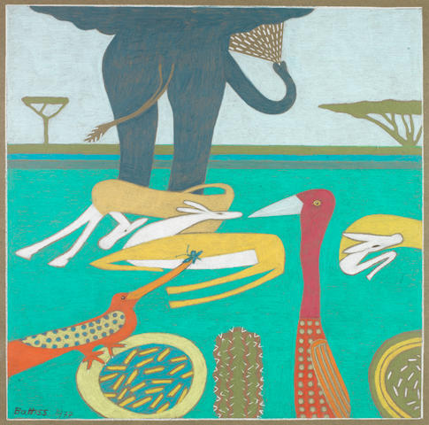 Walter Whall Battiss (South African, 1906-1982) Elephant