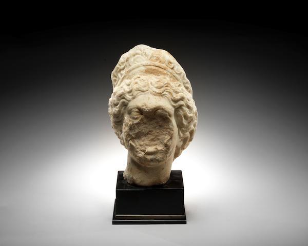 A woman marble head
