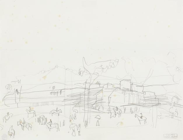 Raoul Dufy (French, 1877-1953) Le champ de courses a Deauville