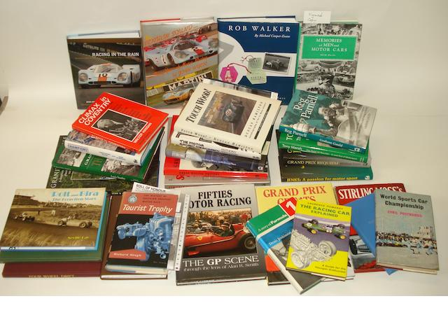 A quantity of books relating to motorsport and racing drivers,