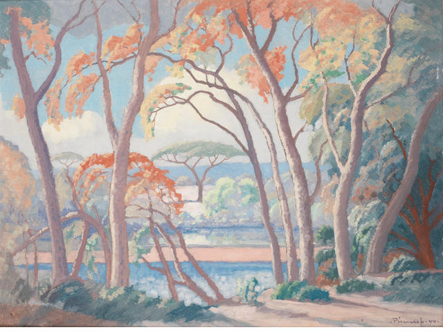 Jacob Hendrik Pierneef (South African, 1886-1957) Msasa Trees