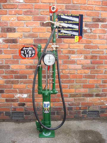 A Gilbert and Barker Type 208 model 12 petrol pump in BP livery,