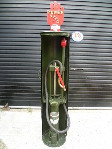A Godwin type handcranked petrol pump,
