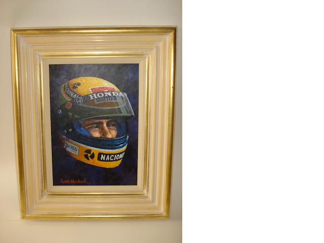 Keith Woodcock (1940-), 'Ayrton Senna',