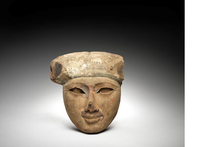 An Egyptian wood mask