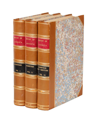 ROBERTSON (WILLIAM) The History of America, 2 vol., 1777; continuation, 1817 (3)