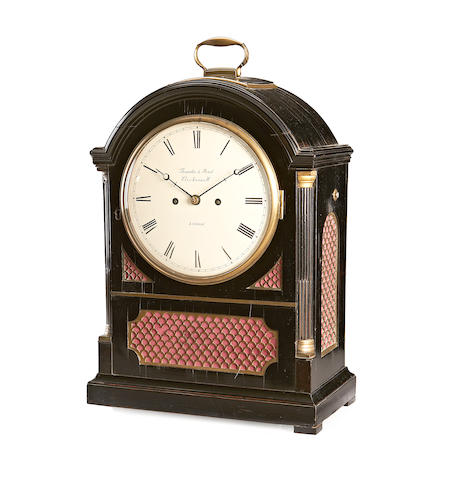Thwaites & Reed, Clerkenwell: An early 19th Century ebony pad-top bracket clock