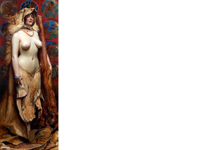John Byam Liston Shaw (British, 1872-1919) Omphale