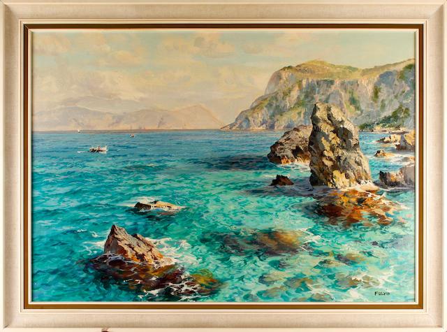 Fulvio (Italian), 20th Century Coastal scene