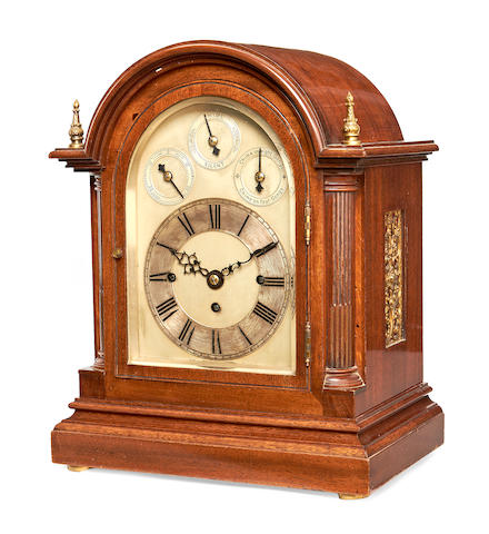 Fusee chiming bracket clock with repeat/chime movement