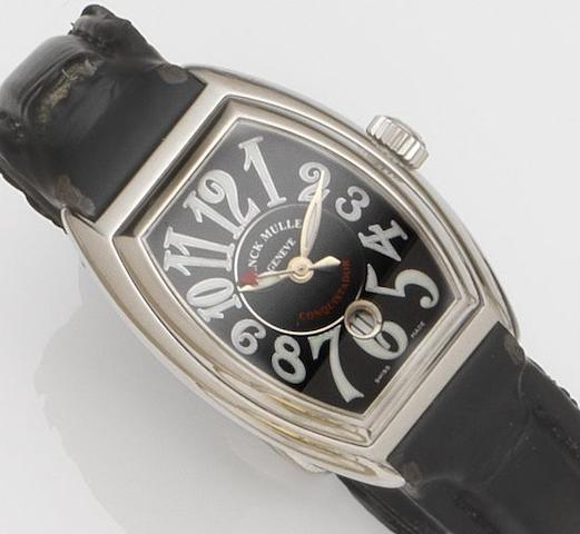 Franck Muller. A lady's stainless steel automatic calendar wristwatch with box and papers Conquistador, Ref:930, Case No.8001 L SC, Recent