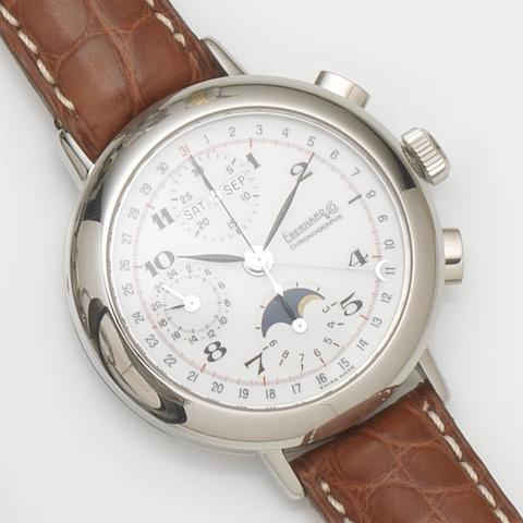 Eberhard & Co. A stainless steel automatic annual calendar chronograph wristwatch Replica, Ref:31039.1, Case No.1081, Recent
