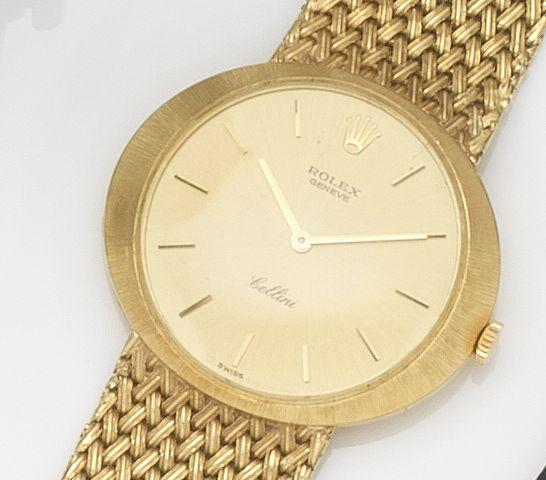 Rolex. An 18ct gold manual wind bracelet watchCellini, Ref:3656, Case No.1289***, Circa 1970