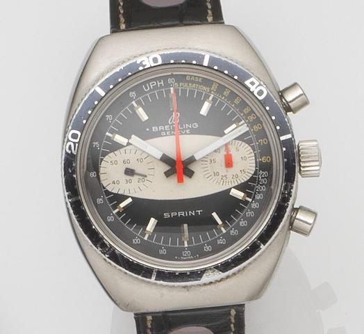 Breitling. A stainless steel manual wind chronograph wristwatchSprint, Ref:2212, Case No.1240261, Circa 1969