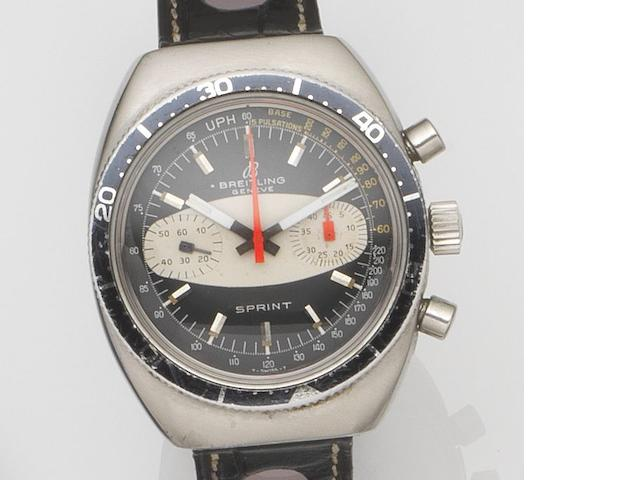 Breitling. A stainless steel manual wind chronograph wristwatch Sprint, Ref:2212, Case No.1240261, Circa 1969
