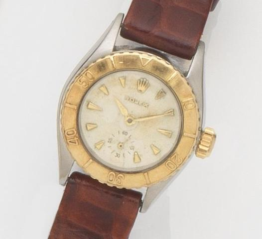 Rolex. A lady's stainless steel automatic wristwatch Oyster Perpetual, Ref:6506, Case No.987***, Movement No.61***, Circa 1950