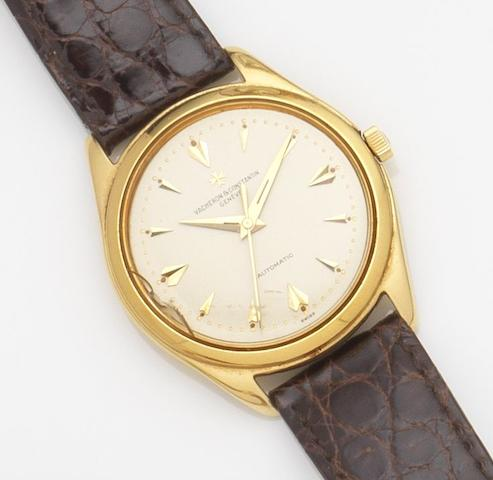 Vacheron & Constantin. An 18ct gold automatic centre seconds wristwatchRef:4870, Case No.354031, Movement No.528041, Circa 1960
