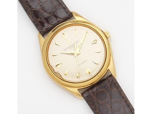Vacheron & Constantin. An 18ct gold automatic centre seconds wristwatchRef:4870, Case No.354031, Movement No.528041, Circa 1960