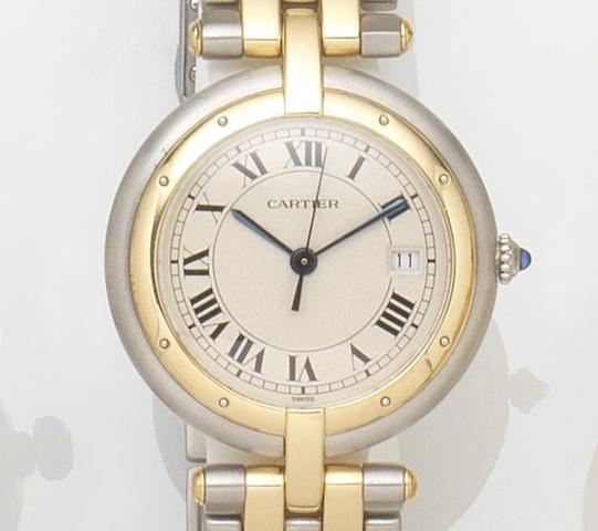 Cartier. A lady's stainless steel quartz calendar bracelet watch Vendome, Ref:8802, Case No.183964, Circa 1990