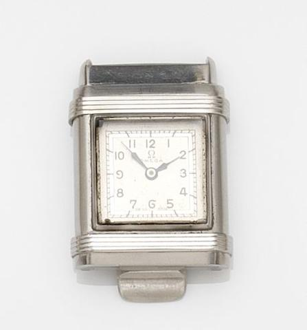 Omega. A rare stainless steel manual wind watch Marine, Case No.9392967, Movement No.8867468, Circa 1935