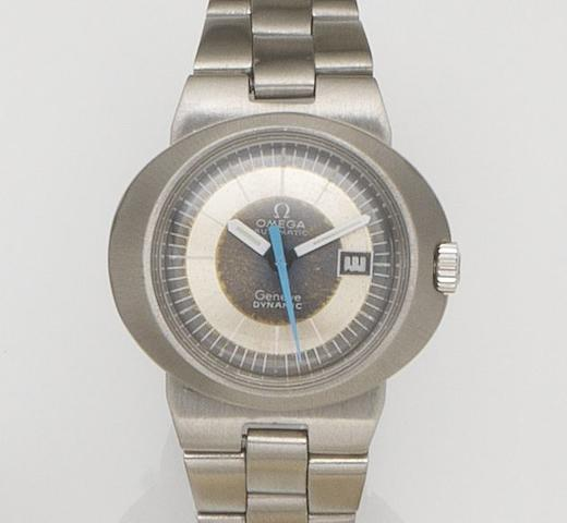 Omega. A lady's stainless steel automatic calendar bracelet watch Dynamic, Circa 1970