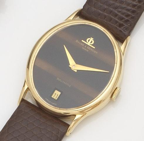 Baume & Mercier. An 18ct gold automatic wristwatch Baumatic, Ref:37066, Case No.430434, Movement No.BM12810, Circa 1970