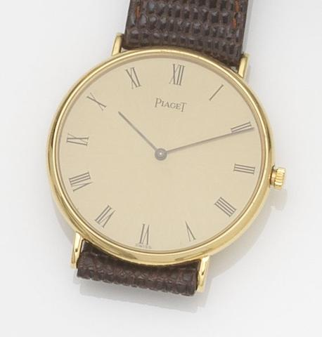 Piaget. An 18ct gold quartz wristwatch Ref:8035, Case No.474159, Movement No.111376, Circa 1970