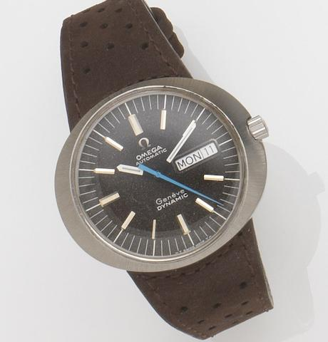 Omega. A stainless steel automatic calendar wristwatch Dynamic, Circa 1970