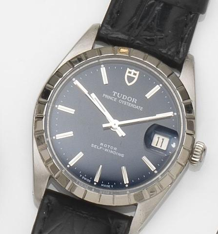 Tudor. A stainless steel automatic calendar wristwatch Prince Oysterdate, Ref:905170, Case No.884053, Circa 1978