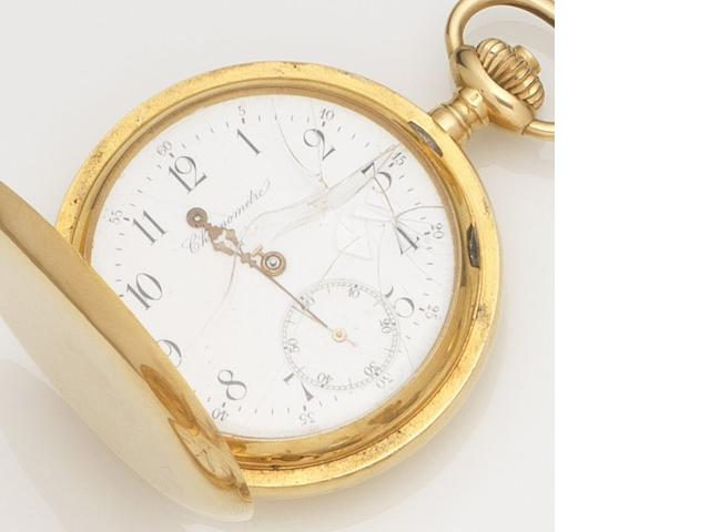 Invicta. An 18ct gold keyless wind full hunter pocket watch Case No.145480, Circa 1890