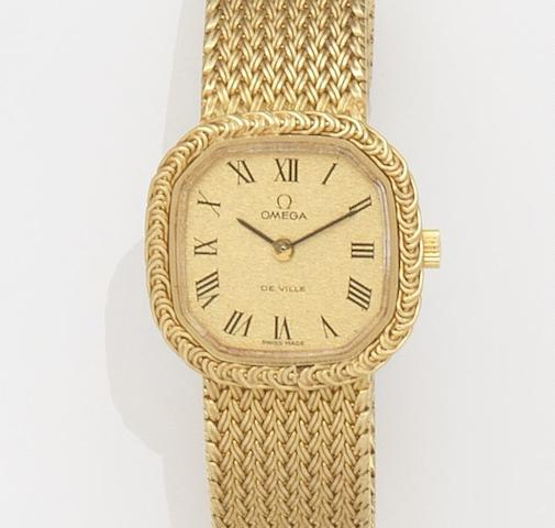 Omega. A lady's 18ct gold manual wind bracelet watchDe Ville, Ref:511.8786, Movement No.41022248, Circa 1978