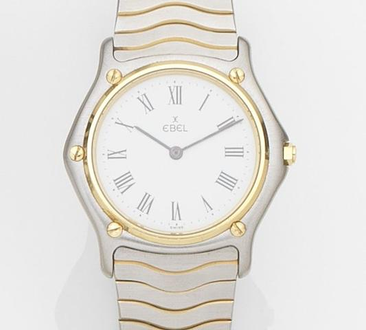 Ebel. A stainless steel quartz bracelet watch Classic, Case No.181909, Circa 1990