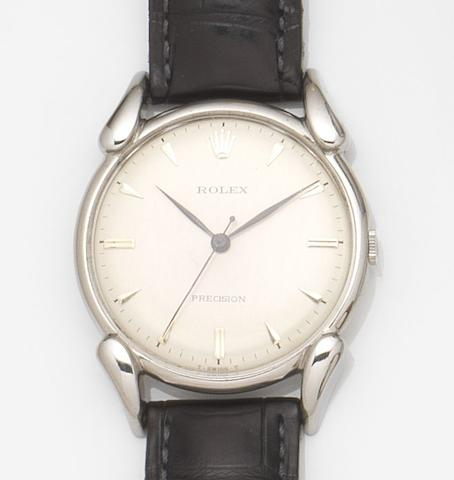 Rolex. A stainless steel manual wind wristwatchPrecision, Ref:4560, Movement No.5616, 1946