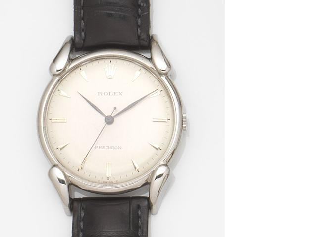 Rolex. A stainless steel manual wind wristwatch Precision, Ref:4560, Movement No.5616, 1946
