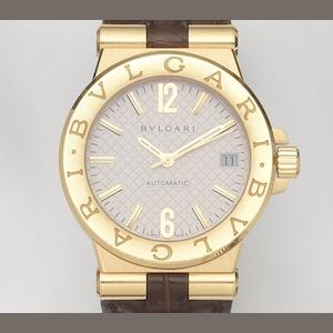 Bulgari. An 18ct gold automatic calendar wristwatch with box and papers Diagono, Ref:DG35C6GLD, Case No.L0348, Sold 9th November 2008
