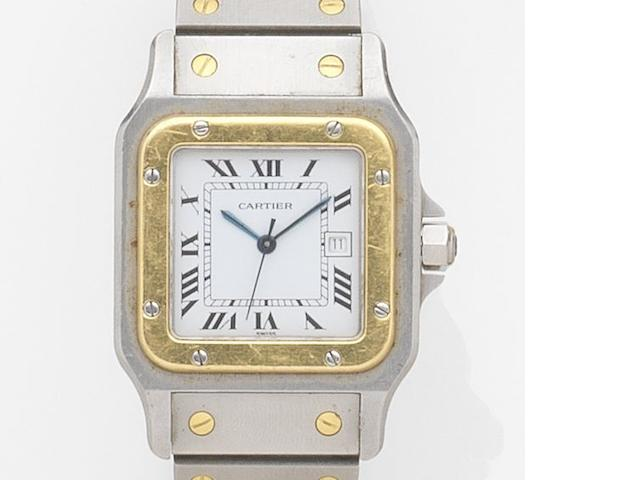Cartier. A stainless steel automatic bracelet watch Santos, Case No.296180764, Circa 1990