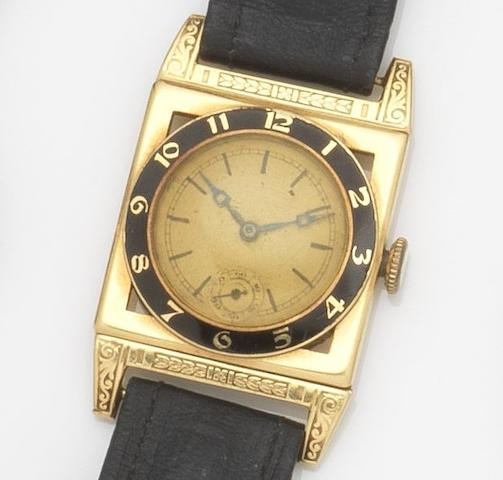Vulcain. An 18ct gold manual wind wristwatch Case No.121011, London Hallmark for 1931