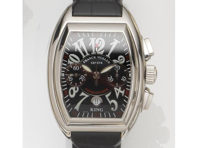 Franck Muller. A stainless steel oversized automatic chronograph wristwatchKing Conquistador, Ref:8001 CC King, Case No.106, Recent
