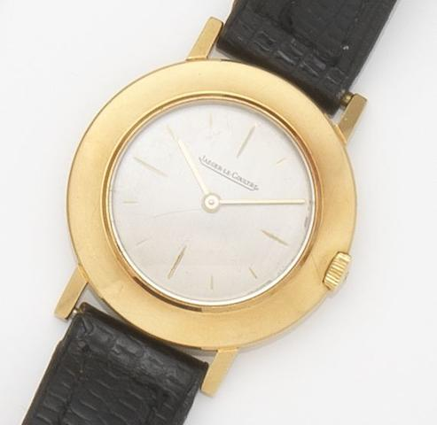 Jaeger-LeCoultre. An 18ct gold manual wind wristwatch Movement No.805481, Circa 1950