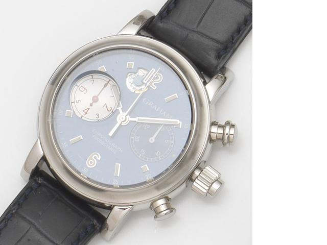 Graham. A stainless steel automatic 1/8th second chronograph wristwatch with box and papers Foudroyante, Ref.2SLI, No.135, Recent