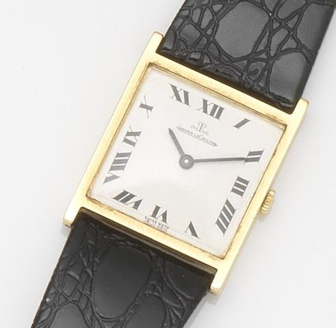 Jaeger-LeCoultre. An 18ct gold manual wind wristwatch Ref:9014, Case No.1110077, Movement No.1916141, London Hallmark for 1968