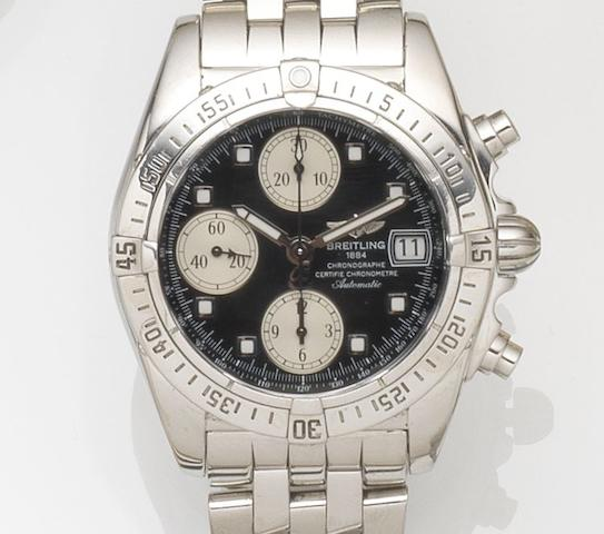 Breitling. A stainless steel automatic chronograph calendar bracelet watch with box and papers Chrono Cockpit, Ref:A13358, Case No.2071582, Sold 5th December 2011