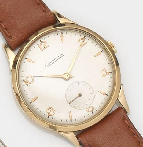 Courbelin. An 18ct gold manual wind wristwatch Circa 1950