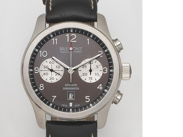 Bremont. A stainless steel automatic calendar chronograph wristwatch ALT1-C Classic, Ref:ALT1-C/AN/07, Case No.C/0335, Movement No.10335, Sold 16th December 2009