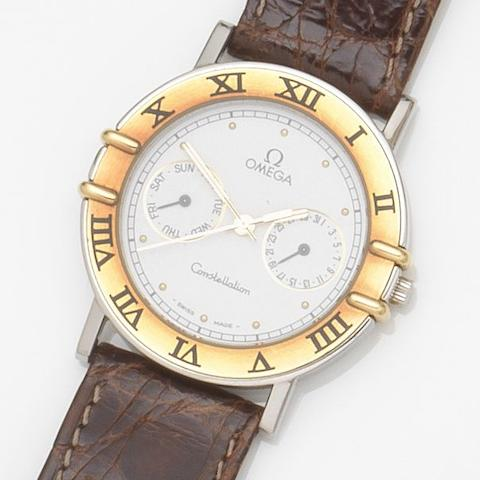 Omega. A stainless steel quartz calendar wristwatch Constellation, Ref:196.1072, Case No.53357266, Movement No.255471, Circa 1991