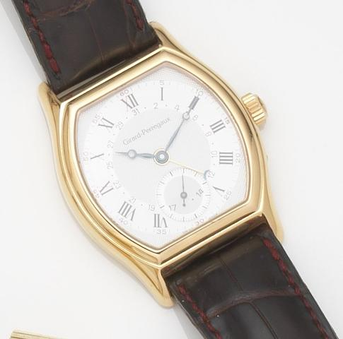 Girard-Perregaux. An 18ct gold automatic calendar wristwatchRicheville, Ref:2730, Case No.OR-27, Circa 2000