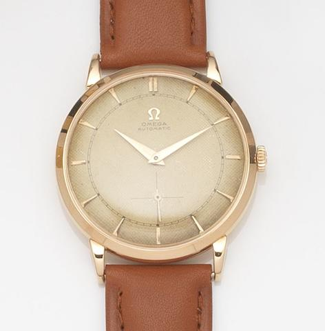 Omega. An 18ct rose gold automatic wristwatch Ref:2644, Case No.10986276, Movement No.12251256, Circa 1950