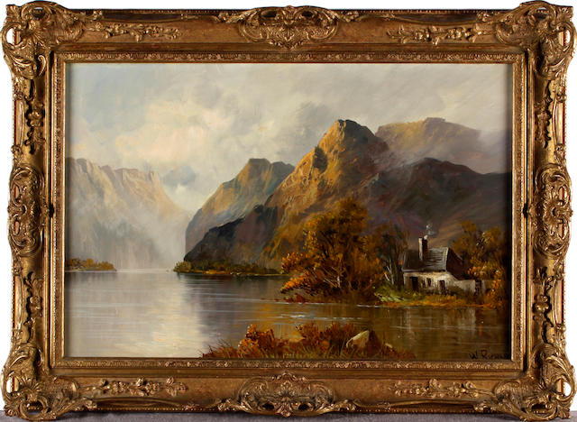 W. Richards (British, 19th Century) A pair of Loch Scenes (2)